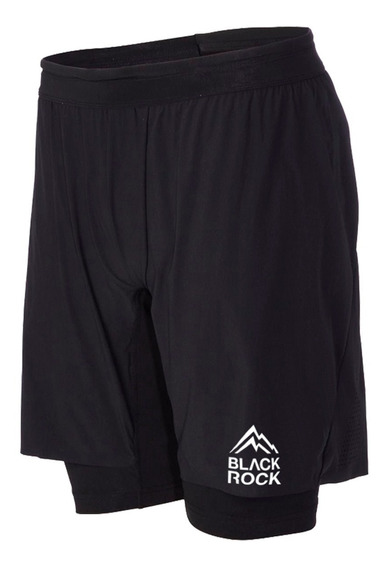 Short Con Calza Black Rock - Hombre - 2in1 Short - Running