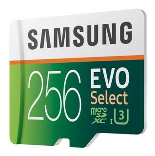 Cartão De Memória Microsdxc 256gb Samsung Evo Select (classe 10, Uhs 3, Uhd, C/ Adaptador) - Mb-me256ga/am