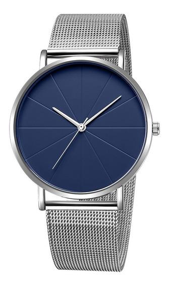 Reloj Elegante Para Hombre Casual De Moda Acero Inoxidable