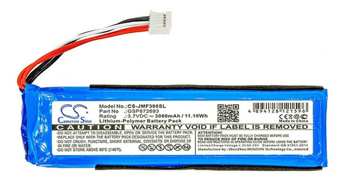 Bateria Jbl Flip 3 Jblflip3gray Jblflip3blu Gsp872693