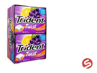 Trident Twist Uva/naranja 10pzs
