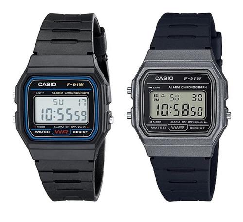 Reloj Casio F91w-1 Unisex Deportivo Garantía Originalidad