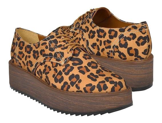 Zapatos Casuales Para Dama Capa De Ozono 408506-2 Camel