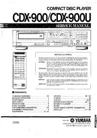 Yamaha Cdx-900 - Cdx-900u Esquema Elétrico