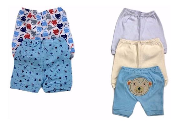 Kit Roupas De Bebê Shorts 5 Peças Menino Ou Menina