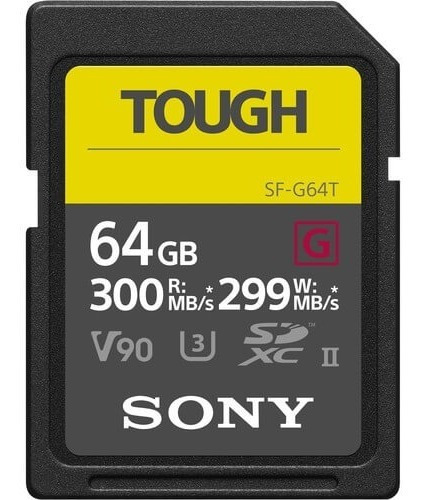 Cartão Sdxc Sony 64gb Sf-g Tough Serie G Uhs-ii V90 300 Mb/s