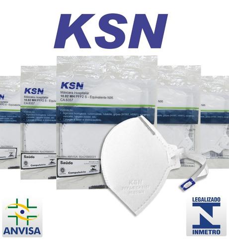 Imagem 1 de 7 de 20 Máscaras Proteção Hospitalar N95 Pff2 Anvisa Inmetro