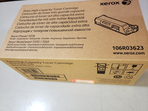 Toner Xerox Original 3330 3335 3345 106r03623 Preto 15k Novo