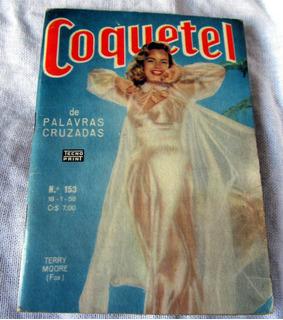 Revista Coquetel 1958 Sexy Terry Moore Elvis Debra Paget