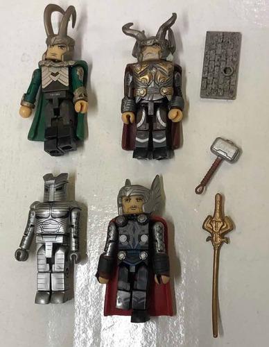 Minimates Minifiguras Lote Thor Loki Odin  Destroyer