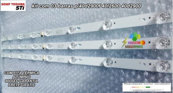Kit Barras De Led Toshiba 40l2600 L40s4900fs 40d2900f Orig.