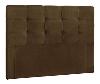 Cabeceira de cama Simbal Clean Queen 160cm x 106cm Couro marrom taupe