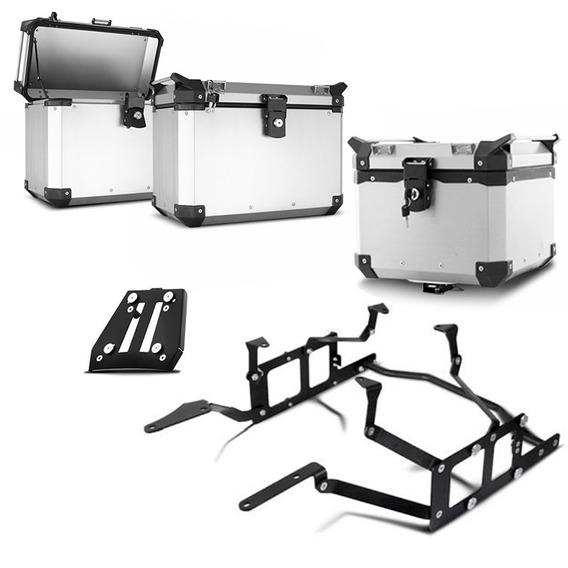 Bau Moto Top Case Roncar Kit Completo Tiger 1200 2014/16
