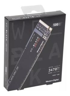 Disco Solido Wd Black Sn750 500gb Nvme Ssd Pcie M.2 2280