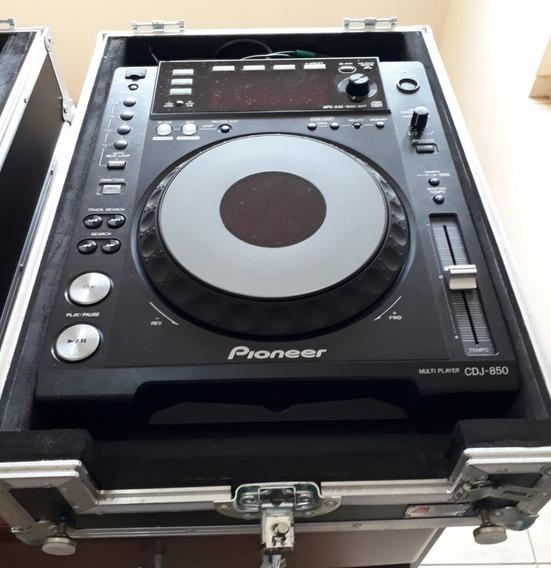 Mixer E Cdj 850k Pioneer Preta + Cases