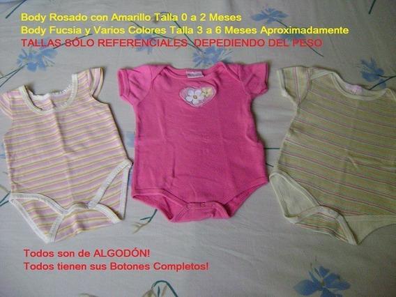 Bodys Para Bebes Tallas 0-6 Meses (precio 3x1)
