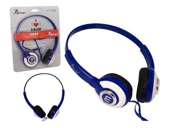 Headphone Fone De Ouvido Estéreo Com Fio Knup Kp-393