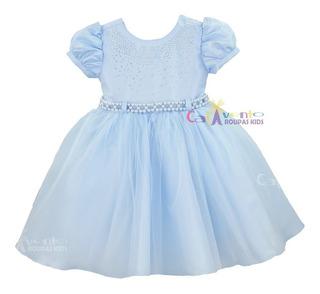 Vestido Festa Princesa Realeza Frozen Alice Cinderela Luxo