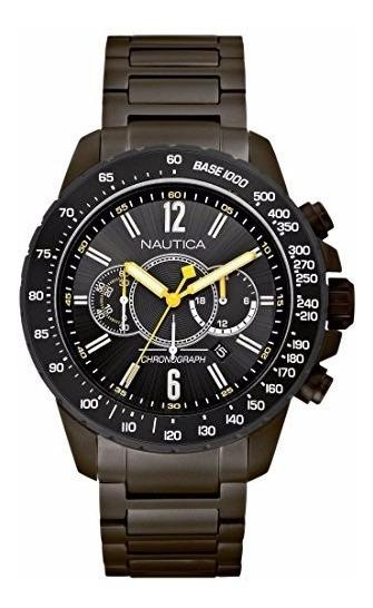 Relógio Masculino Nautica A26537g Todo Aço Inox Lançamento