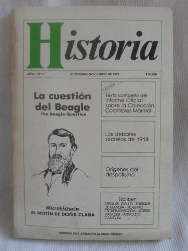 Imagen 1 de 2 de Revista Historia  Año 1 Nº3 Dirigida Por Alonso Piñeiro 1981
