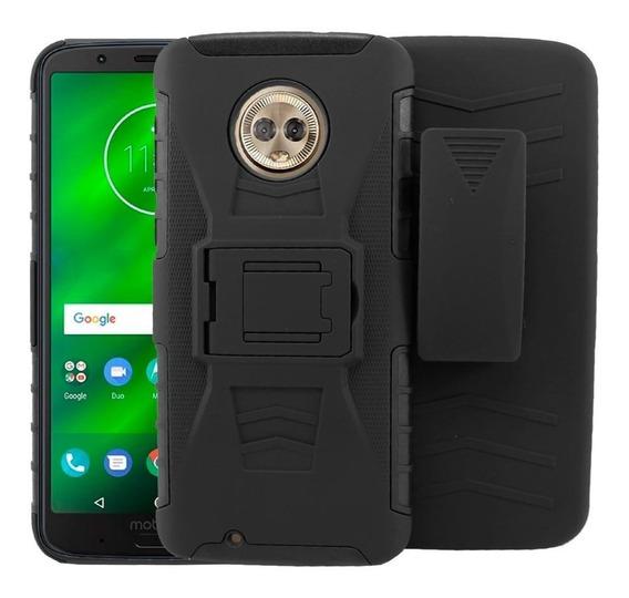 Funda Moto Motorola Series One G Z E C Protector Resistente Case Uso Rudo Con Clip Varios Modelos