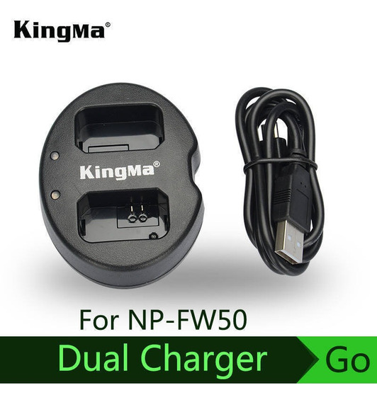 Kingma Para Sony Np-fw50 Bateria Dupla (dupla) Carregador Al