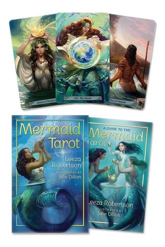 Mermaid Tarot, De Las Sirenas, Esta En Ingle, Libro Y Cartas