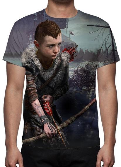Camiseta, Game God Of War (ps4) - Atreus 01 - Frete Grátis