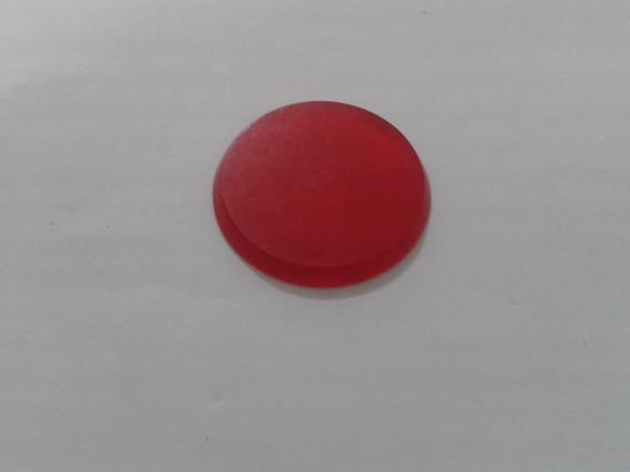 Botão De Galalite Vermelho Translúcidol Slim # Muito Novo