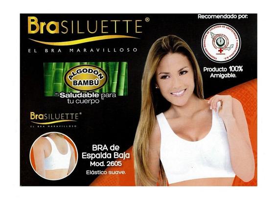 Bra Siluette Modelo 2605, Espalda Baja, Algodón De Bambú