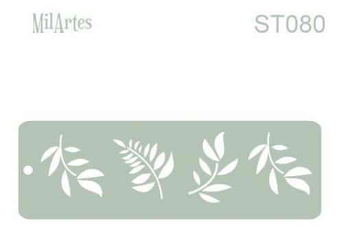 Mil Artes - Stencil  4,50 X 14,50cm - St80