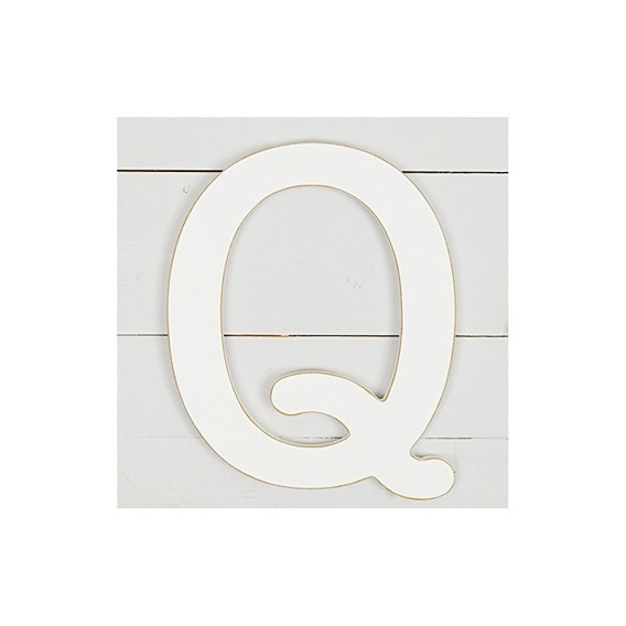 11.5 Decoración De Pared De Máquina De Escribir Letra Q- Bla