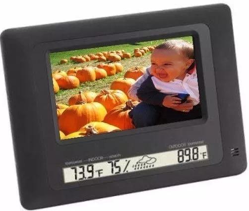 Porta Retrato Polaroid Digital Com Relogio