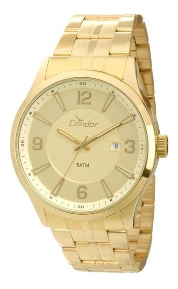 Relógio Condor Masculino Ref: Co2315ah/4x Casual Dourado