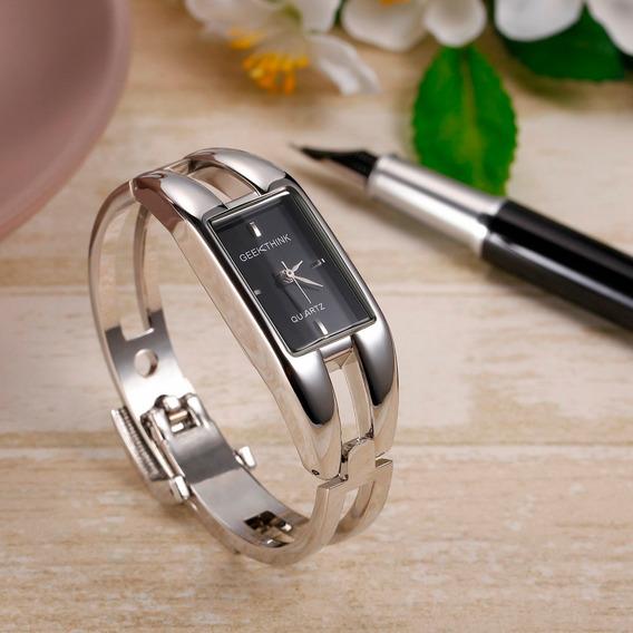 Relógio Feminino Bracelete Aço Inox Promoção Barato Quartzo