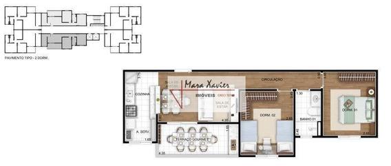 Apartamento Com 3 Dormitórios À Venda, 72 M² Por R$ 409.000 - Residencial Felicitá - Louveira/sp - Ap0289