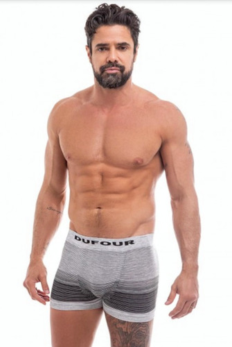 Pack X3 Dufour Boxer Hbre. Seamles Rayas A. 11855 T. S/xxl