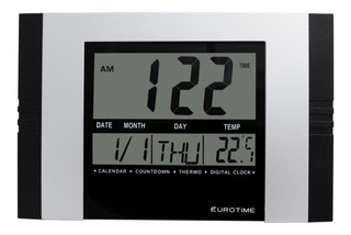 Reloj De Pared Eurotime 77/3060.10 Temperatura Timer Alarma