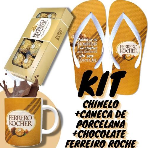 Caneca Dia Dos Namorados Personalizada Com Ferrero E Chinelo