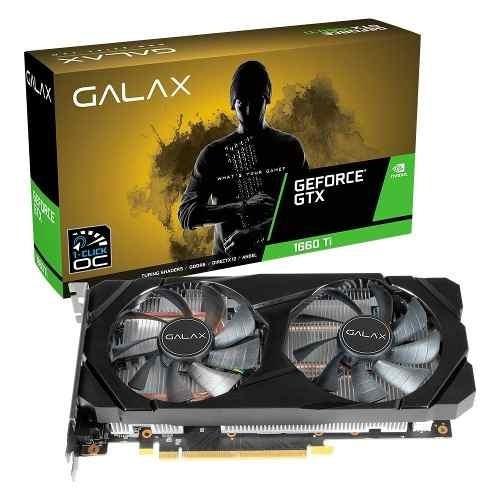 Placa De Vídeo Galax Nvidia Geforce Gtx 1660 Ti 1-click Oc 6