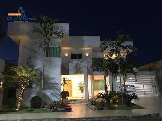 Casa Com 4 Dormitórios À Venda Por R$ 1.500.000 - Cidade Jardim - Anápolis/go - Ca1444