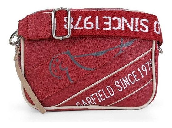 Bolsa Transversal E Pochete Garfield 2 Em 1 Gf2901 Vermelha