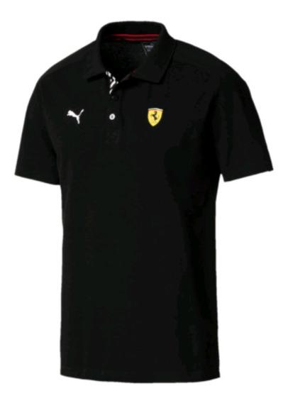 Camisa Puma Ferrari Negro Caballero Original Ven.nom