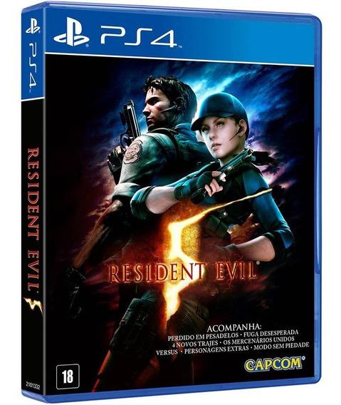 Jogo Resident Evil 5 Ps4 Disco Fisico Novo Lacrado Promoção