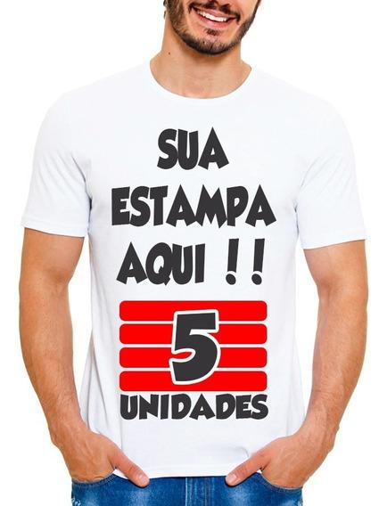 Kit 5 Camisetas Personalizada Com Sua Estampa Foto Imagem Wa