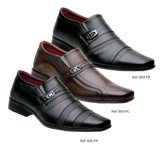 Kit 3 Pares Promoção Sapatos Social Masculino Estiloso K6