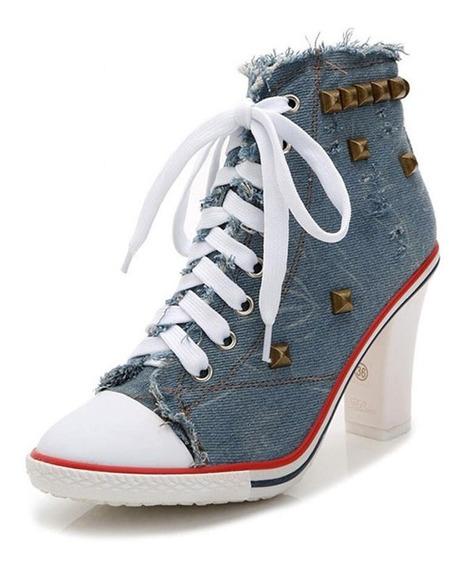 Tenis Jeans Salto Alto Modelos Variados