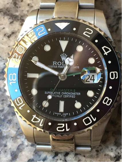 Relógio Gmt Master Ii Preto Cerâmica Safira Automático Top!