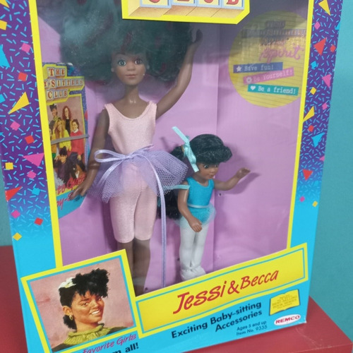 Imagem 1 de 6 de  Boneca The Baby Sitters Club Jessi Beca Negra Set 2 1990