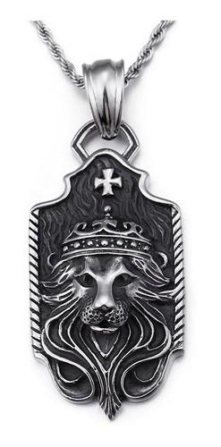 Collar León Corona Rey Hombre Caballeros Moda 2019